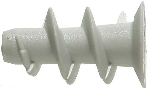 Kunststoff-dübel (100 Gipskartondübel Rigips Dübel Hohlraumdübel Kunststoff Grau)