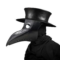 Idea Regalo - Umiwe Maschera medico peste, maschera spaventosa di Halloween Plague Bird Doctor Nose Cosplay Fancy Gothic Steampunk Retro Rock Bird Mask