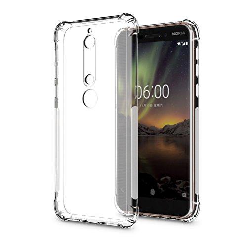 SLEO Nokia 6.1/Nokia 6 2018 Hülle, Ultra Dünn TPU Schale Schutzhülle Clear Case Soft Cover für Nokia 6.1/Nokia 6 2018 (Ultra Slim – 1 mm) - Transparent