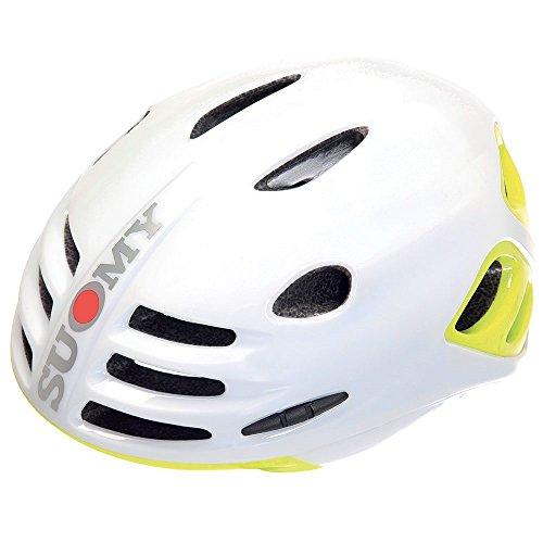 Suomy Casco bici Sfera bianco / giallo fluo lucido taglia L (Caschi MTB e Strada) / Road helmet Sfera white / yellow fluo glossy size L ( Mtb and Road Helmet)