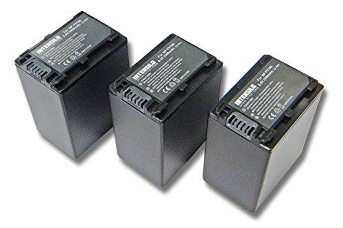 INTENSILO 3x Li-Ion batería 3300mAh (8.4V) para cámara de video, videocámara Sony HDR-CX115E, HDR-CX116E, HDR-CX130, HDR-CX130E por NP-FV100, NP-FV60