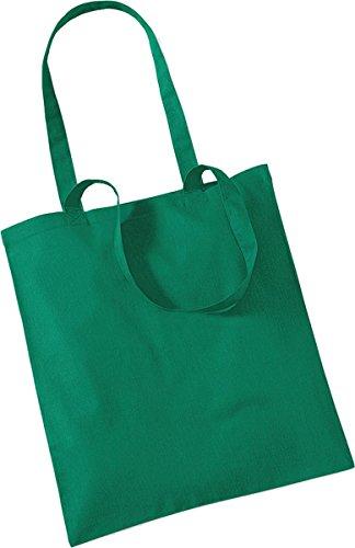 Westford Mill Shopper Handtasche Aufbewahrung Reisetasche Promo Schulter Tasche One Size Grün - Kelly Green