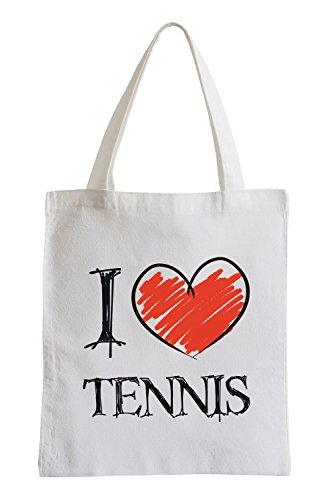 I love Tennis Fun Jutebeutel