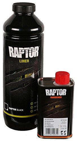 Preisvergleich Produktbild UPOL RAPTOR Pick Up Transportflächen Fahrzeug Beschichtung schwarz 750ml + 250l Härter