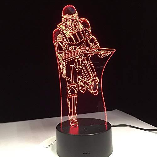 (Lifme Film Figures Trooper Soldier 3D Nachtlicht Acryl Led Tischleuchte Mit Touch Fernbedienung Halloween Weihnachten Familiengeschenk)