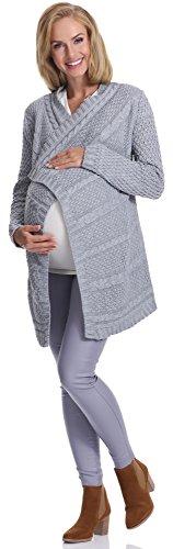 Be Mammy Damen Umstandspullover Ossi Grau
