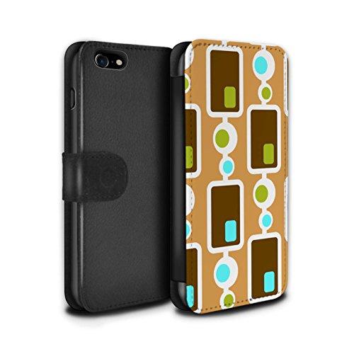 Stuff4 Coque/Etui/Housse Cuir PU Case/Cover pour Apple iPhone 7 / Pack 5pcs Design / Modèle Décennie Collection Années 70/1970