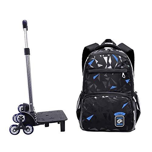 16d1a1f69e Goyajun Trolley Zaino per Studenti - Viaggiante Borsa Scuola Handbag con  Ruote per Kids Studenti Bambini