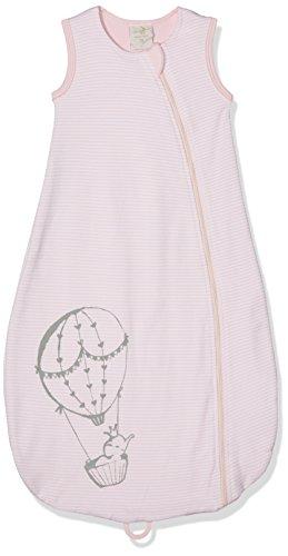 DIMO-TEX Baby-Mädchen Schlafsack Babyschlafsack Girl Bio-Baumwolle Mehrfarbig (Rosaweiß 6), 74 (Herstellergröße: 90) (Bio-baby-nachtwäsche)