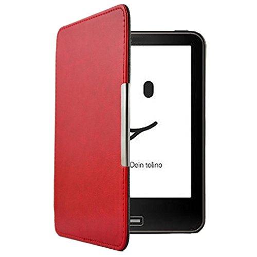 Für Tolino Vision 4HD Tablet Stilvolle Graceful Fall, Y56Leder Slim Ultra Dünn bemalt Schutzhülle für Tolino Vision 4HD mit Folio Ständer Design (Folio Messenger)