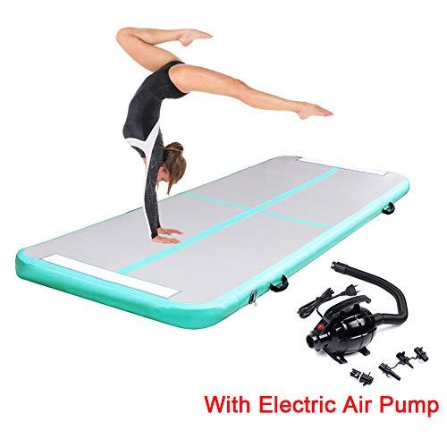 Triclicks Aufblasbare Air Track Gymnastikmatte Gymnastik Tumbling Matte Yogamatte Fitnessmatte Bodenmatte Trainingsmatten Günstig Turnmatte Taekwondo Sport Matte + Kostenlose Elektrische Luftpumpe, 3M