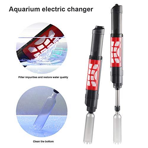Alftek Aquarium-Kies-Reiniger-Schlamm-Auszieher-Wieder aufladbarer Handautomatischer Wasser-Wechsler für Aquarium