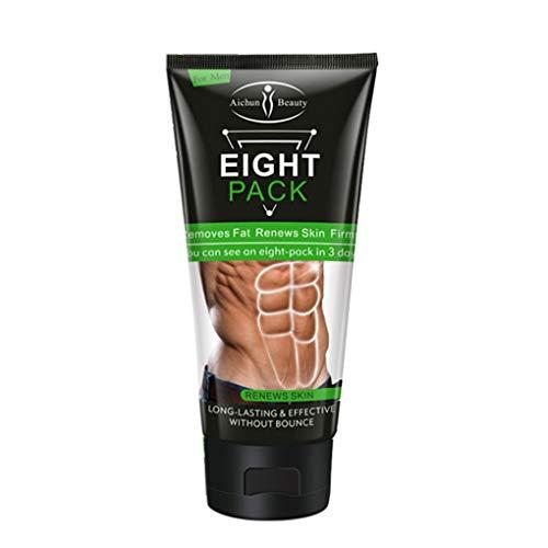 Yujum Unisex Bauchmuskeln Creme Men Körperpflege Creme Linien Presse Creme geglättete Linien Presse Fitness Belly Fat Burner -