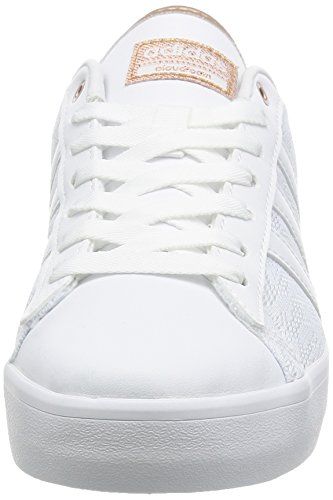 adidas Cloudfoam Daily Qt Lx W, Sneaker Bas du Cou Femme Blanc Cassé (Ftwbla/ftwbla/cobmet)