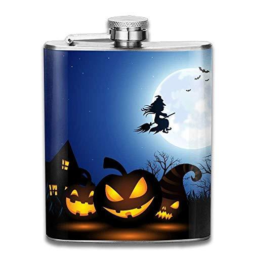 Spooky Halloween Fashion Portable Stainless Steel Hip Flask Whiskey Bottle 7 Oz