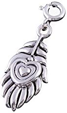 fourseven Mor Pankh Charm (peacock feather)/pendant in Pure Sterling silver | For Krishna Devotees