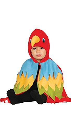 Kostüm Vogel Kleinkind (KINDERKOSTÜM - PAPAGEI - Größe 92-93 cm ( 12-24 Monate ), Vogel Tropenvögel Tierkostüme)