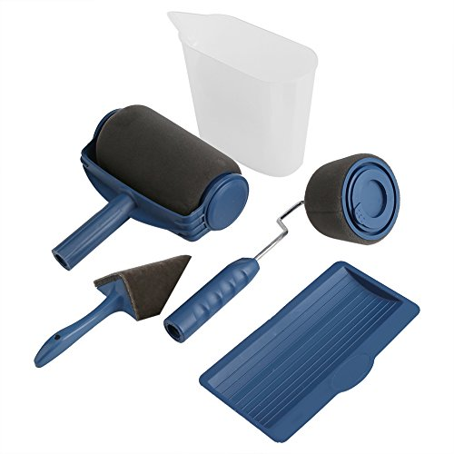 5Stück/Set Multifunktions Farbe Roller Set Kit Dekorieren Bürste Tackle dekorativen Farbroller Haushalt Gemälde Wand Tools Flachpinsel set Pro Professionelle Wandmalerei Läufer