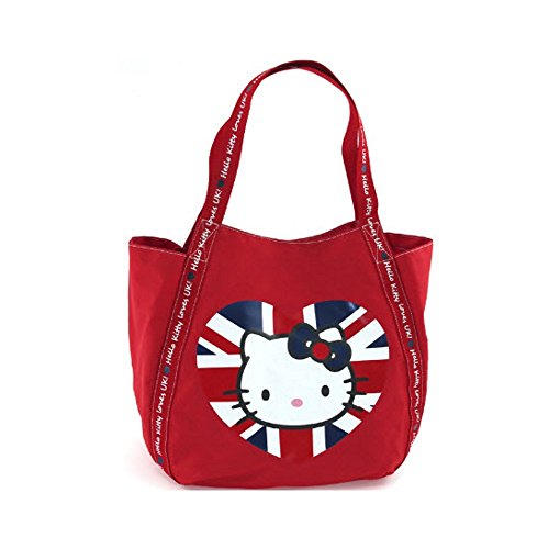 Hello kitty by camomilla - sac shopping loves uk angleterre union jack - rouge