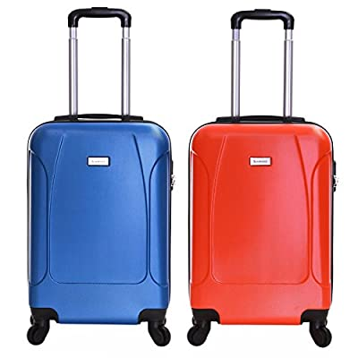 Slimbridge Alameda Super Lightweight ABS Hard Shell Travel Carry On Cabin Hand Luggage Suitcase with 4 Wheels, Approved for Ryanair, EasyJet, British Airways, Virgin, Flybe and More - hand-luggage