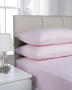 Hamilton McBride 68 Pick Polycotton Pink Pillowcase Pair