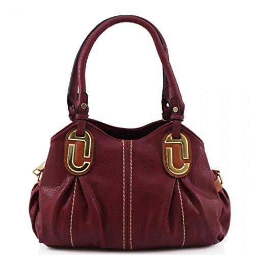 HB Style - Sacchetto donna Ragazza Rosso/rosa Suministro YIS7ZxF