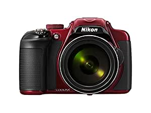 Nikon COOLPIX P600 Digital Camera - Red (16.1 MP, 60x Zoom) 3.0 inch Vari-angle LCD Electronic Viewfinder and Wi-Fi