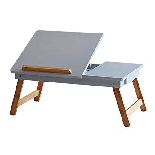 Lapdesks Computer Schreibtisch Notebook Bett Schreibtisch Falten Zerlegen Sie Die Datei Magnetismus Schublade 58 * 34 * 23cm TINGTING (Farbe : Blau)