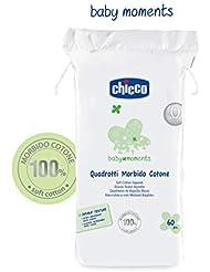 Chicco Quadrate aus Baumwolle, Weiß–1 Pack von 60Stück