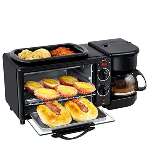 Nlne Toaster Mit Eierkocher, 3-In-1-Toaster, Backen, Omelett, Auftauen, Barbecue Multifunktionsfrühstücksmaschine - 1000 W