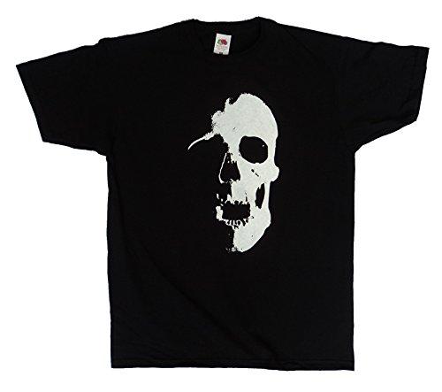 Skull Design, Scarey Goth Rock Horror Halloween T Shirt, Men's or Unisex