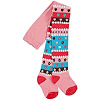 Bright Bots 18/24m Baby Girls Tights Patterned/Textured - Pink/Turquoise