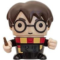 BulbBotz 2021791 Harry Potter - Reloj Despertador Nocturno para niños con Sonido Personalizado (plástico), Color Negro y marrón