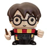 BulbBotz Harry Potter 2021791 Harry Potter Kids Night Light Alarm Clock con caratterizzato Sound | Nero/Brown| plastica | Altezza 14 cm | LCD Display | Boy Girl | Ufficiale