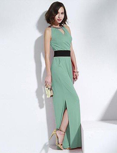 GSP-sexy dos nu perles scission longue combinaison des femmes joannekitten® light green-l