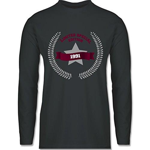 Shirtracer Geburtstag - 1991 Limited Special Edition - Herren Langarmshirt Dunkelgrau