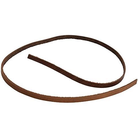 Gusti Leder studio Correa de Cuero Cordón Banda Tira Set de 10 Unidades Manualidades 1mm de Grosor 7mm de Ancho 70cm de Largo Piel de Búfalo Auténtica Marrón