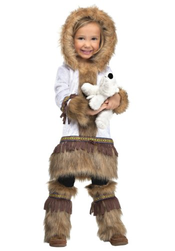 Kinder Kostüm Eskimo - Unbekannt Toddler Girls Eskimo Fancy Dress Costume Small (24 Months - 2T)