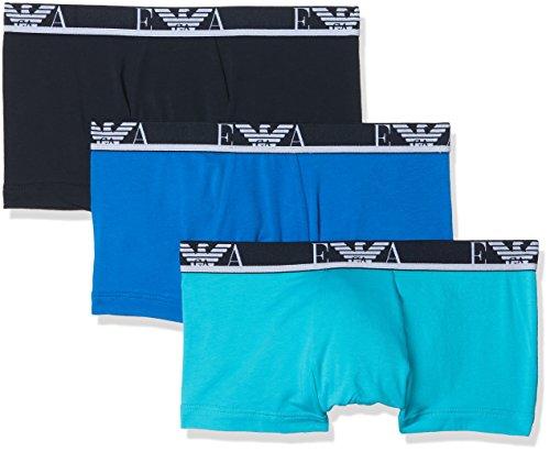 Emporio Armani Underwear Herren Hipster 1113578P715, 3er Pack, Mehrfarbig (Turches/Marine/Cielo 12583), Medium