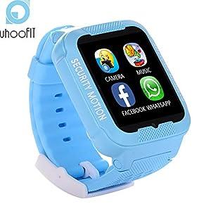 XUHAHAZNSH Intelligentes Armband/Intelligente Uhr-Wasserdichte Kinderuhr-Realzeitverfolger-GPS Anti-Verlorene Baby Smartwatch Mit Kamera