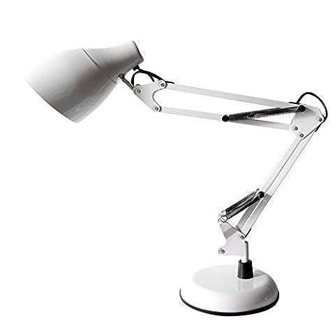 &die Tischleuchte Dimmable LED Schreibtisch Lampe Augenpflege Klapptisch Lampe Leselampe Schlafzimmer Lampen ( Farbe : Weiß )