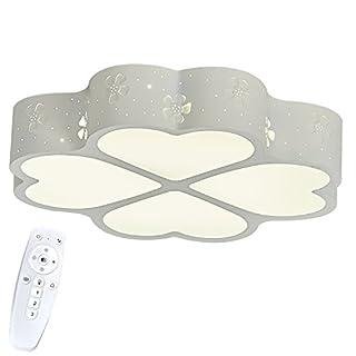 SAILUN 48W Dimmbar LED Moderne Deckenleuchte Deckenlampe 4 Kleeblatt Design, Kreative Acryl Deckenleuchte Energiesparlampe für Flur Wohnzimmer Schlafzimmer Küche Büro - Weiß (48W Dimmbar,Weiß)