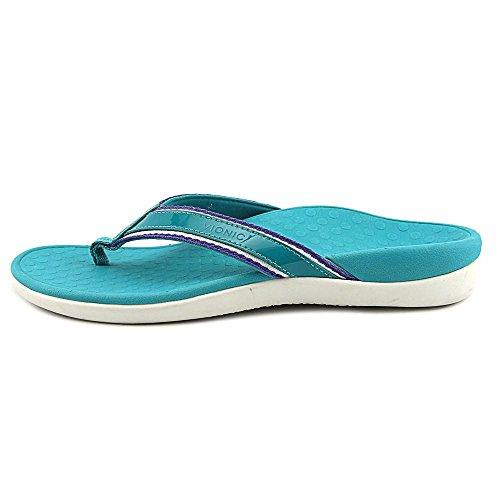Vionic Islander Scarpe Da Donna Pantofola / Separatore Punta, Blu, Pelle / Tessuto, Altezza Tacco: 15 Mm Verde Acqua