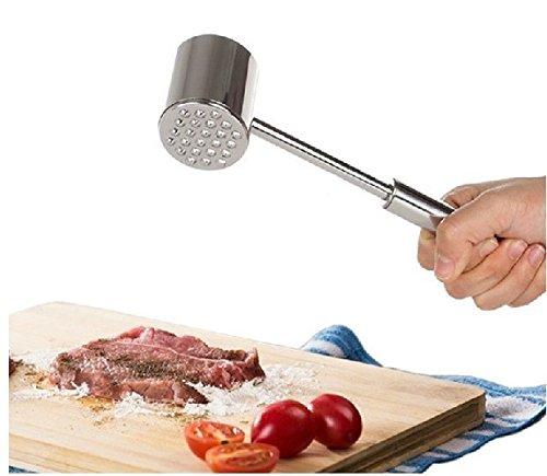 Schnitzelklopfer Fleischklopfer Fleischhammer Steakhammer Rostfreier Stahl ~