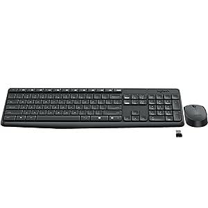 Logitech MK235 Tastatur RF Wireless Ungarisch Schwarz – Tastaturen (Standard, Kabellos, RF Wireless, Schwarz, Maus enthalten)