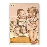Sunnywall Persönliches Holz-Bild mit Fotodruck Text | Ideal als Geschenk | Ihr eigenes Foto A4 | A3 (A4, Naturbelassen)