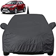 Autofact Car Body Cover for Hyundai I20 Active with Mirror and Antenna Pocket (Light Weight, Triple Stitched,