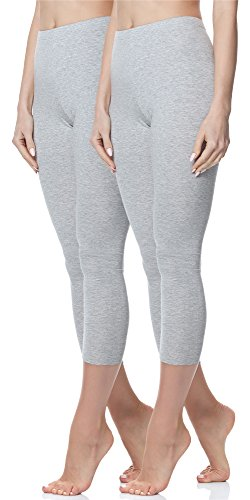 Merry Style Deux leggings 3/4 pour femme - MS10-144 Melange/Melange