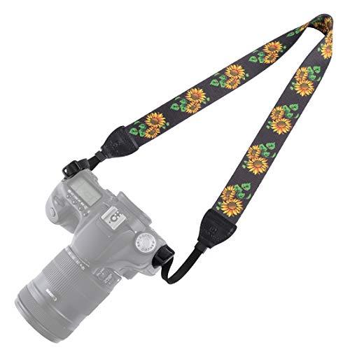 BYbrutek Kameragurt für DSLRs, Weich Kamera Schultergurt (universal passend), 150cm Long, 3.8cm Wide (6009C) - Canon Wide Strap