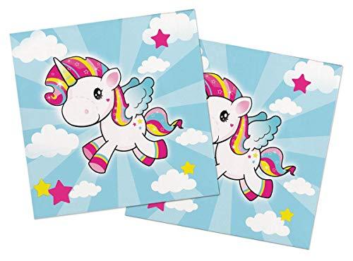 Tovaglioli unicorno 33 x 33 cm - 20 pezzi